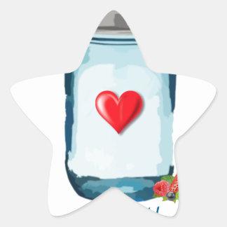 HAPPINESS IS HOMEMADE (MASON JAR) STAR STICKER
