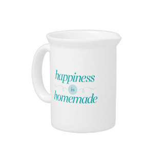 Happiness is Homemade Pitcher