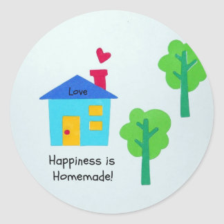 Happiness is Homemade! Round Stickers