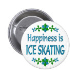 Happiness is Ice Skating 6 Cm Round Badge