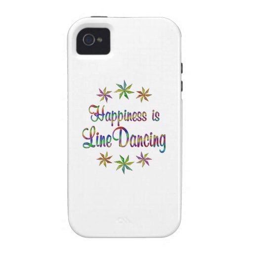 Happiness is Line Dancing Vibe iPhone 4 Case