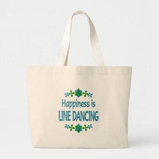 Happiness is Line Dancing Jumbo Tote Bag