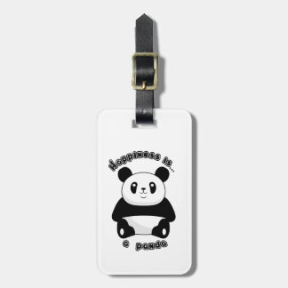 Happiness is… Luggage tag