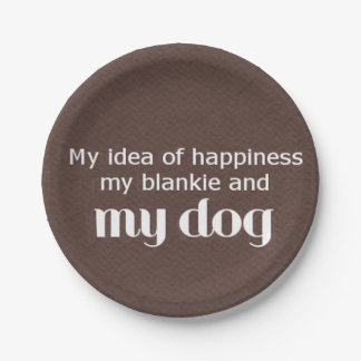 Happiness is My Dog 7 Inch Paper Plate