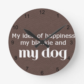 Happiness is My Dog Clock