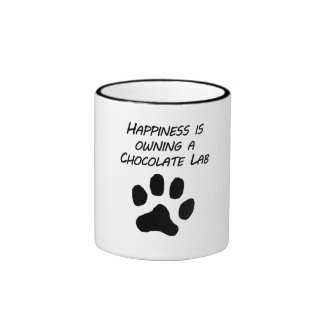 Happiness Is Owning A Chocolate Lab Mugs