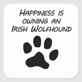 Happiness Is Owning An Irish Wolfhound Stickers
