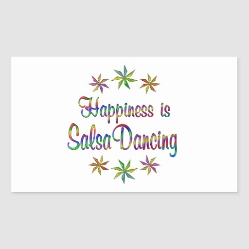 Happiness is Salsa Dancing Rectangular Sticker