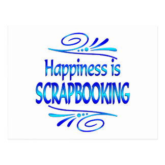 Happiness is SCRAPBOOKING Post Card