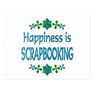 Happiness is Scrapbooking Postcard