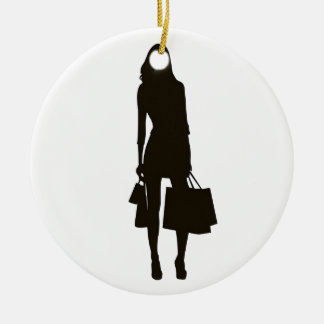 Happiness is shopping christmas ornament