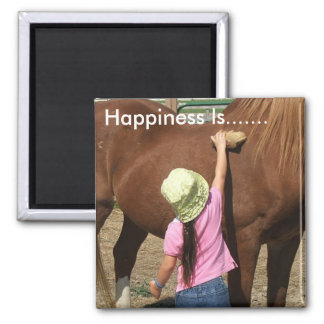 Happiness Is......... Square Magnet