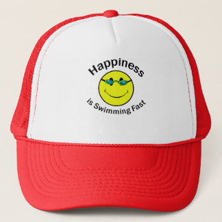 Happiness is Swimming Fast Trucker Hat