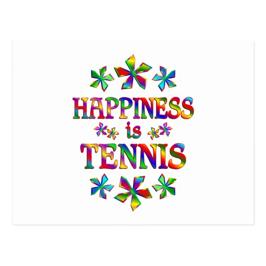 Happiness is Tennis Postcard