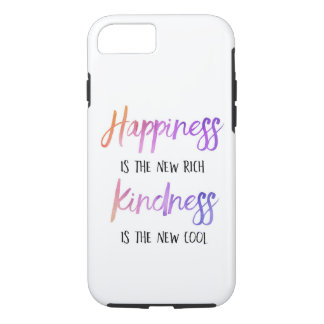 """Happiness is the new rich"" Cell Phone Case"