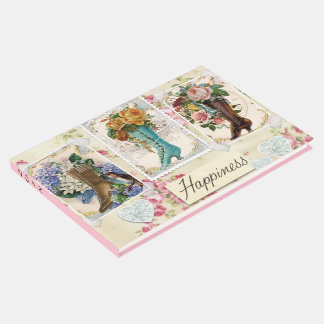 Happiness is Victorian Steampunk Boots Guest Book