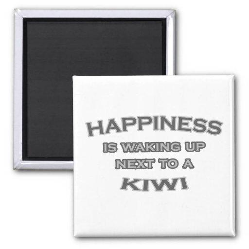 Happiness Is Waking Up Next To a Kiwi Fridge Magnets