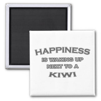 Happiness Is Waking Up Next To a Kiwi Square Magnet