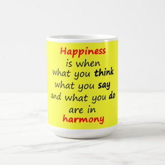 Happiness is when... coffee mug