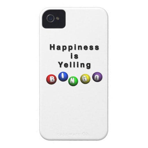 Happiness Is Yelling BINGO Case-Mate Blackberry Case