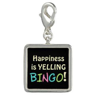 Happiness is yelling Bingo charm
