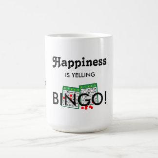 Happiness Is Yelling Bingo FUN! Bingo Lovers Mug