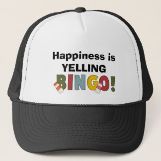 Happiness Is Yelling Bingo hat