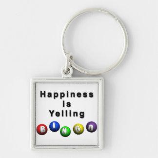 Happiness Is Yelling BINGO Key Ring