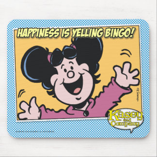 Happiness Is Yelling BINGO! Mouse Pad