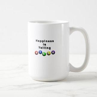Happiness Is Yelling BINGO Basic White Mug