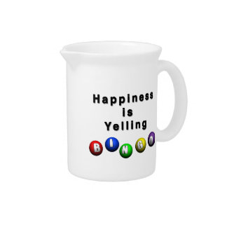 Happiness Is Yelling BINGO Pitcher