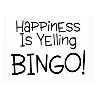 Happiness Is Yelling Bingo Postcards