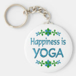 Happiness is Yoga Key Chains