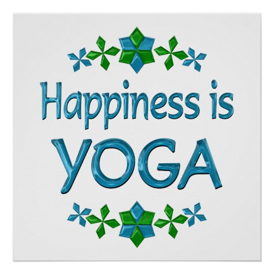 Happiness is Yoga Poster