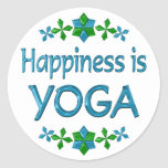 Happiness is Yoga Stickers