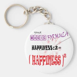 HAPPINESS MAGIC FORMULA GIFT BUTTON KEYCHAIN