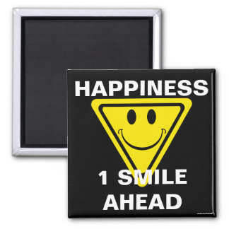 Happiness Square Magnet