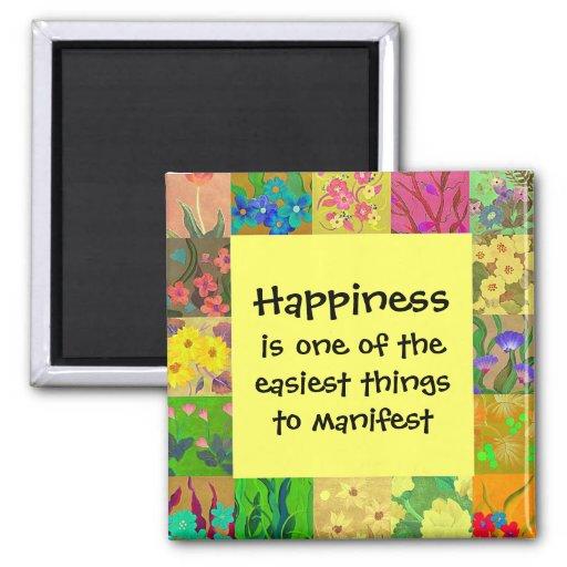 Happiness manifest a positive affirmation fridge magnets zazzle