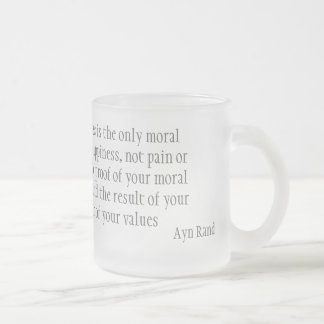 Happiness Frosted Glass Mug