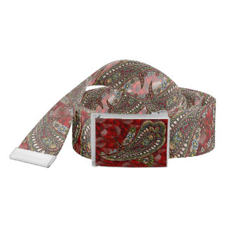 Happiness Paisley Boho Gems Belt
