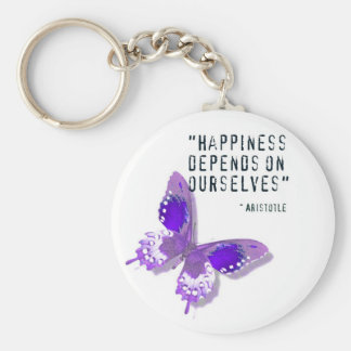 Happiness Purple Butterfly Key Ring