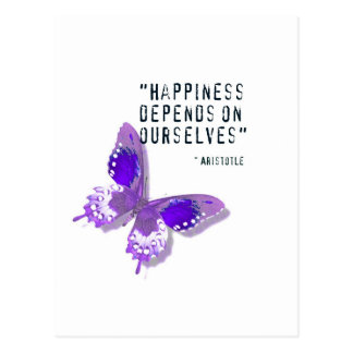 Happiness Purple Butterfly Postcard