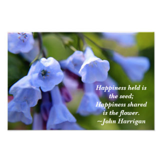 Happiness shared is the flower print photo print