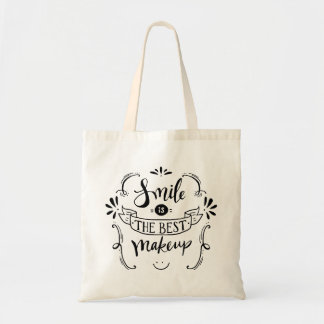 Happiness Smile Life Attitude Motivational Quote Tote Bag