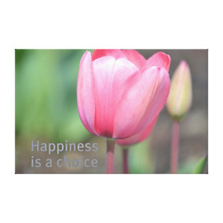 Happiness Tulips Canvas Print