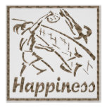 Happiness: Volleyball Poster