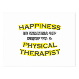 Happiness .. Waking Up .. Physical Therapist Postcard