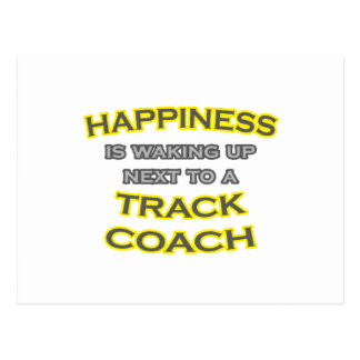 Happiness .. Waking Up .. Track Coach Postcard