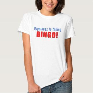Happiness Yelling Bingo Shirts
