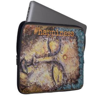 #happiness Zen Buddha Watercolor Art Laptop Sleeve